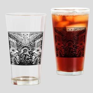Tribal Art BW Drinking Glass