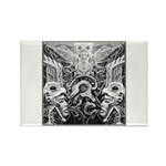 Tribal Art BW Rectangle Magnet