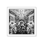 Tribal Art BW Square Sticker 3