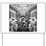 Tribal Art BW Yard Sign