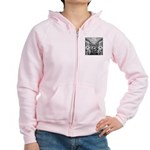 Tribal Art BW Women's Zip Hoodie