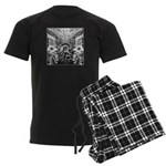 Tribal Art BW Men's Dark Pajamas
