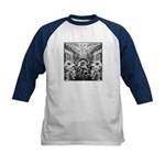 Tribal Art BW Kids Baseball Jersey
