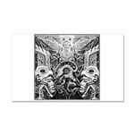Tribal Art BW Car Magnet 20 x 12
