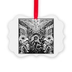 Tribal Art BW Picture Ornament