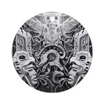 Tribal Art BW Ornament (Round)