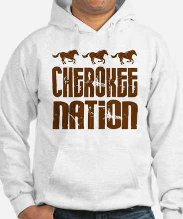 Cherokee Nation With Horses Hoodie