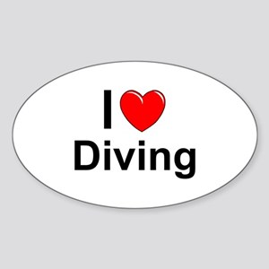 Diving Sticker (Oval)