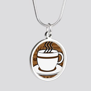 Coffee Words Jumble Print - Brown Necklaces