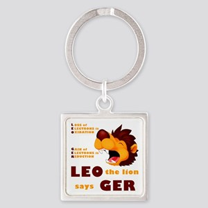 LEO Says GER Square Keychain