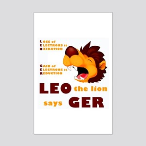 LEO Says GER Mini Poster Print