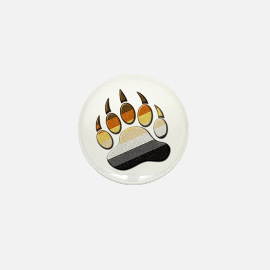 Bear Paw Mini Button