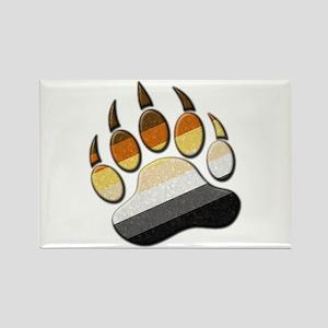 Bear Paw Rectangle Magnet