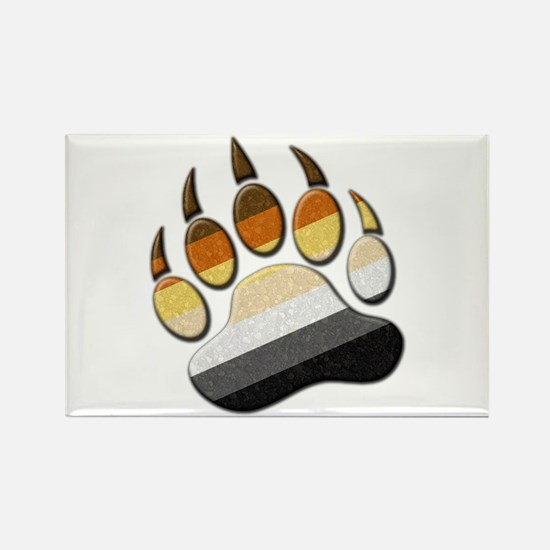 Bear Paw Rectangle Magnet