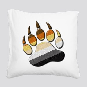 Bear Paw Square Canvas Pillow