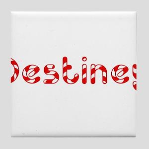 Destiney - Candy Cane Tile Coaster