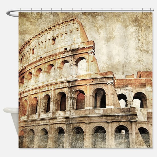 Vintage Roman Coloseum Shower Curtain