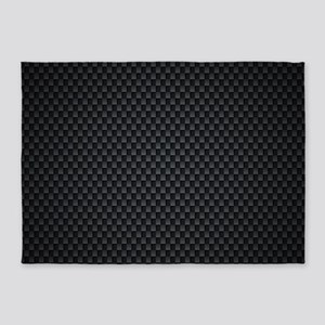 Carbon Mesh Pattern 5'x7'Area Rug