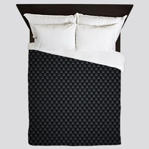 Carbon Mesh Pattern Queen Duvet