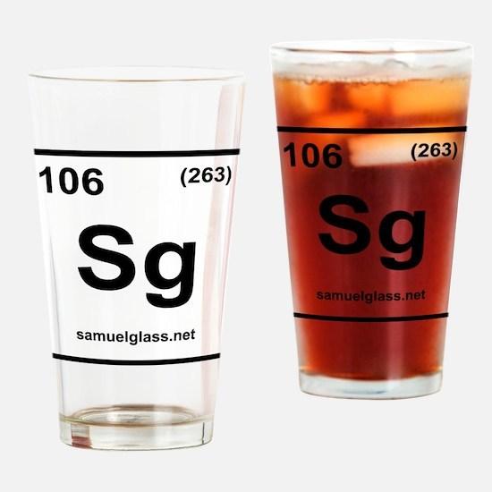 SG Logo White Drinking Glass