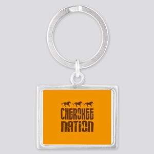 Cherokee Nation With Running Horses Keychains
