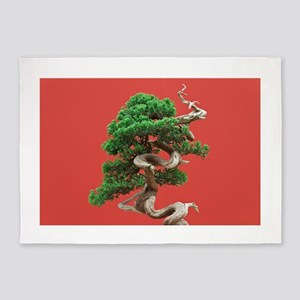 Juniper bonsai 5'x7'Area Rug