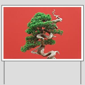 Juniper bonsai Yard Sign