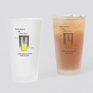 Half Empty or Half Full -- You Decide Drinking Gla
