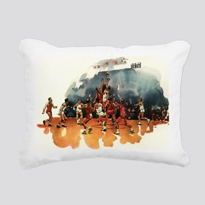 Vintage Sports Basketbal Rectangular Canvas Pillow