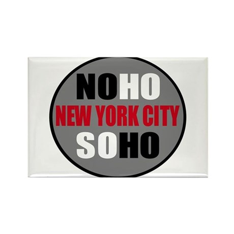 NoHo SoHo NYC Logo Shirts & I Rectangle Magnet