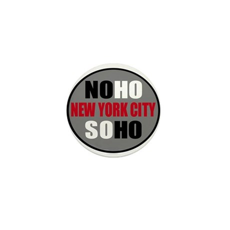 NoHo SoHo NYC Logo Shirts & I Mini Button (100 pac