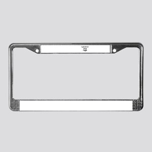 NAUGHTY AND NICE (UNIQUE) License Plate Frame