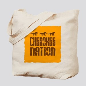 Cherokee Nation With Running Horses Tote Bag