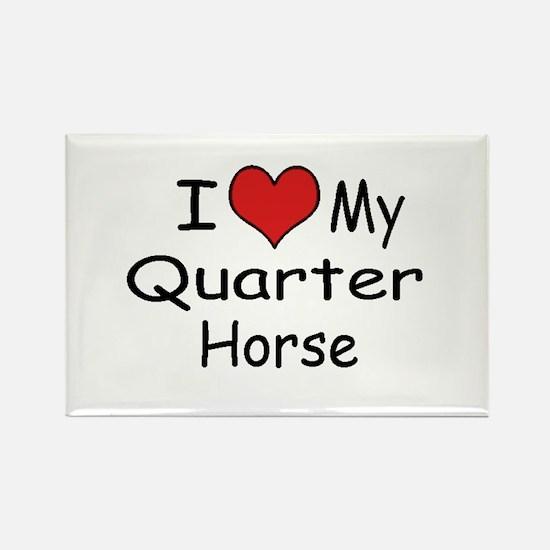 "I ""Heart"" My Quarter Horse Rectangle Magnet"