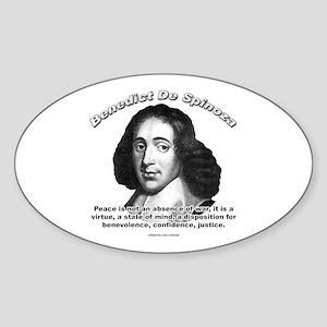 Benedict De Spinoza 01 Oval Sticker