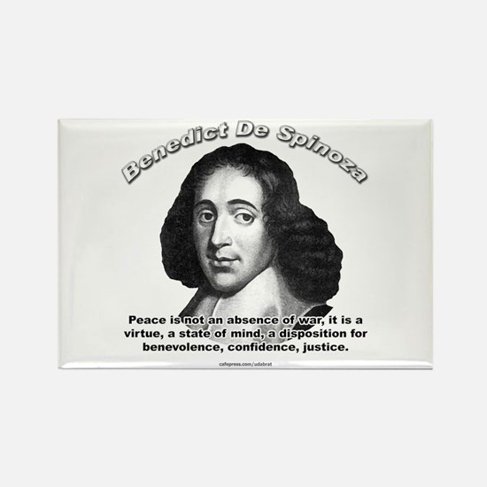 Benedict De Spinoza 01 Rectangle Magnet