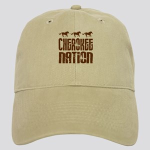 Cherokee Nation With Running Horses Baseball Cap