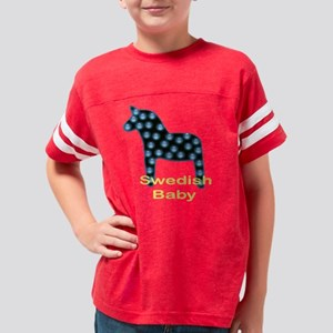 Swedish Baby Dala Horse Youth Football Shirt