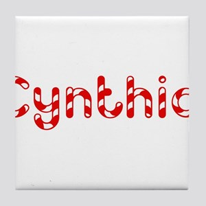 Cynthia - Candy Cane Tile Coaster