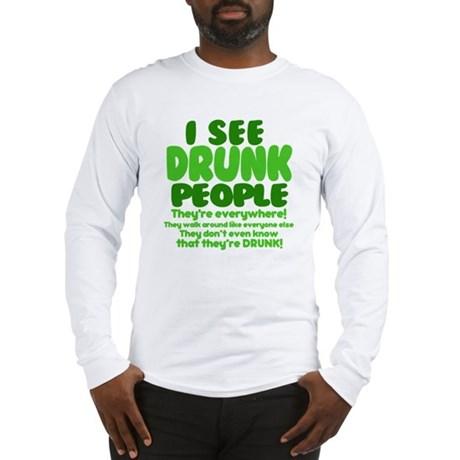 FUNNY BARTENDER TEE SHIRT , I SEE DRUNK PEOPLE