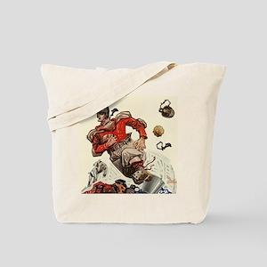 Vintage Sports Football Tote Bag