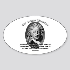 Sir Issac Newton 01 Oval Sticker