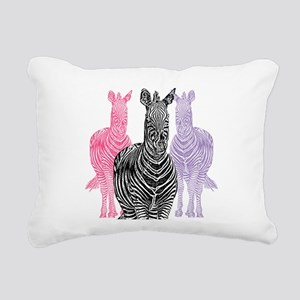 Trio Zebra Print Rectangular Canvas Pillow