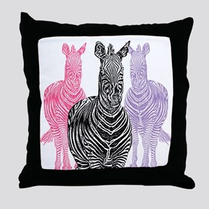 Trio Zebra Print Throw Pillow