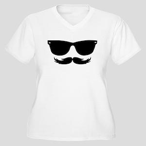 Sunglasses Mustache Plus Size T-Shirt