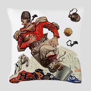 Vintage Sports Football Woven Throw Pillow