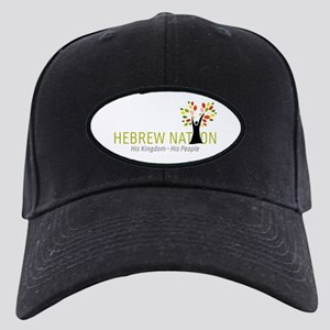 Hebrew Nation Logo Black Cap With Patch