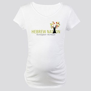 Hebrew Nation Logo Maternity T-Shirt
