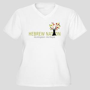 Hebrew Nation Log Women's Plus Size V-Neck T-Shirt