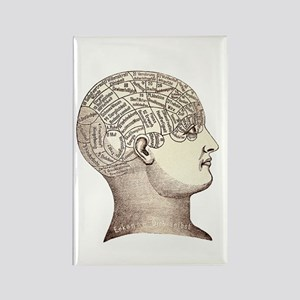 Victorian Phrenology Rectangle Magnet